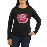 Painted Heart Women's Long Sleeve Dark T-Shirt