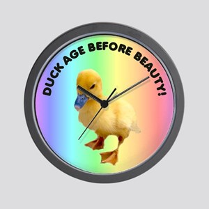 Duck age before beauty Wall Clock