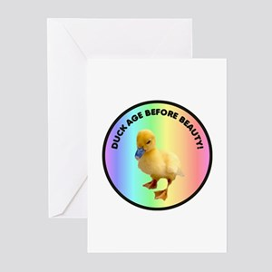 Duck age before beauty Greeting Cards (Package of