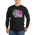 Skulls & Bubble Gum Long Sleeve Dark T-Shirt