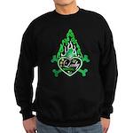 Green Flame Heart Sweatshirt (dark)