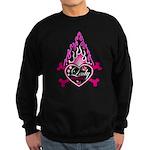 Pink Flame Heart Sweatshirt (dark)