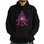 Pink Flame Heart Hoodie (dark)