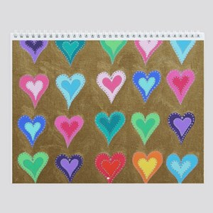 Shimmering Hearts Christmas Wall Calendar