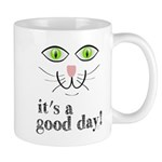 It's a Good Day Cat Face Mugs