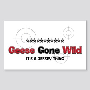 Geese Gone Wild Rectangle Sticker