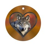Wolf Heart Ornament (Round)
