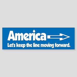 America Keep Moving Bumper Sticker