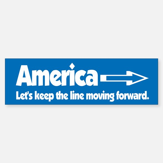 America Keep Moving Bumper Bumper Bumper Sticker