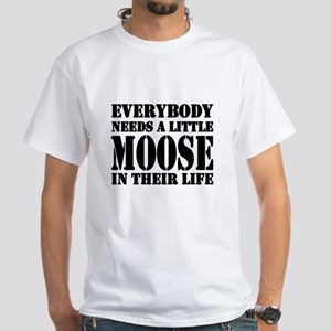 Get a Little Moose White T-Shirt