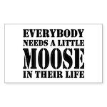 Get a Little Moose Rectangle Sticker 10 pk)