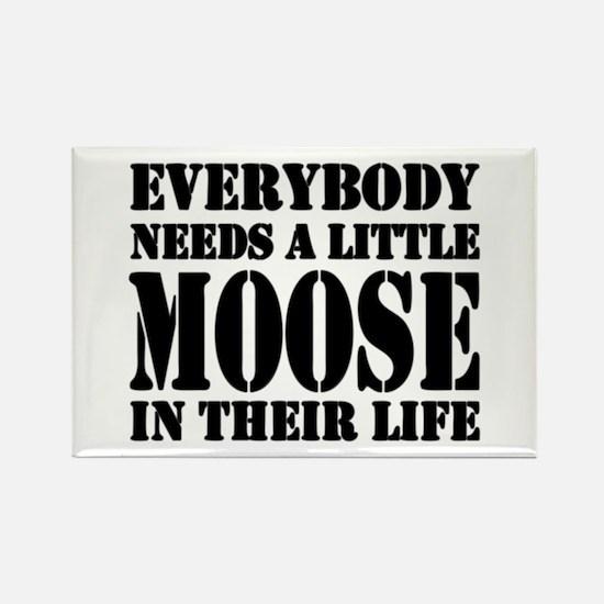 Get a Little Moose Rectangle Magnet
