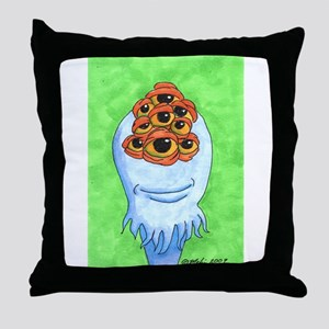 Nieneh the 9 eyed monster Throw Pillow