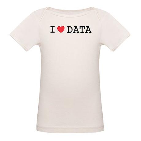 I Heart Data Organic Baby T-Shirt