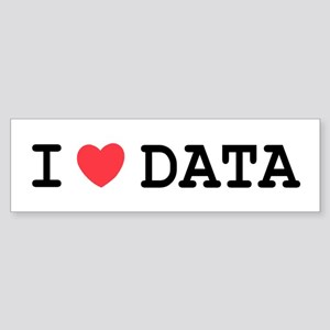 I Heart Data Bumper Sticker