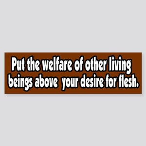 Animal Wellfare Vegetarian Vegan Bumper Sticker