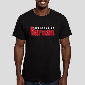 Welcome to Raritan Men's Fitted T-Shirt (dark)