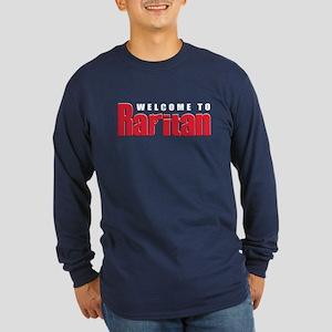 Welcome to Raritan Long Sleeve Dark T-Shirt