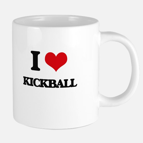 I Love Kickball 20 oz Ceramic Mega Mug