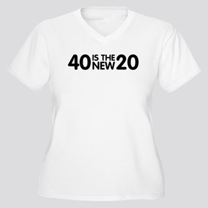 40 Is The New 20 Women's Plus Size V-Neck T-Shirt