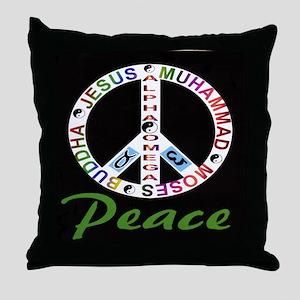 ALPHA OMEGA - PEACE Throw Pillow