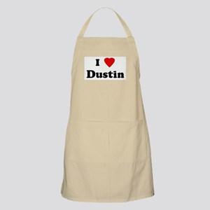 I Love Dustin BBQ Apron