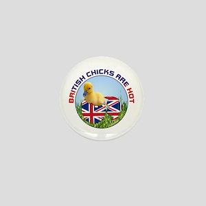 British Chicks Mini Button
