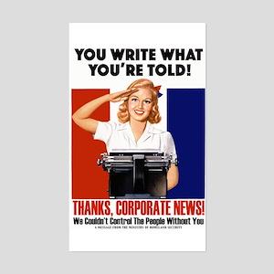 Corporate News Rectangle Sticker