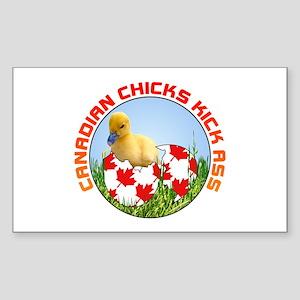 Canadian Chicks kick ass Rectangle Sticker