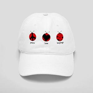 Peace, love, ladybugs Cap
