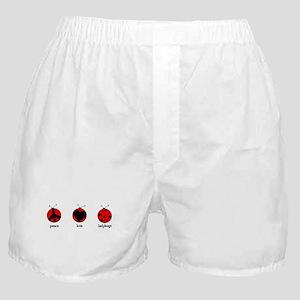 Peace, love, ladybugs Boxer Shorts