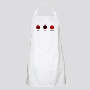 Peace, love, ladybugs BBQ Apron