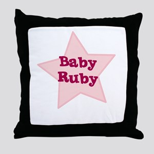 Baby Ruby Throw Pillow
