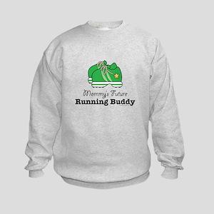 1c28859164 Running Buddy Kids Crewneck Sweatshirts - CafePress