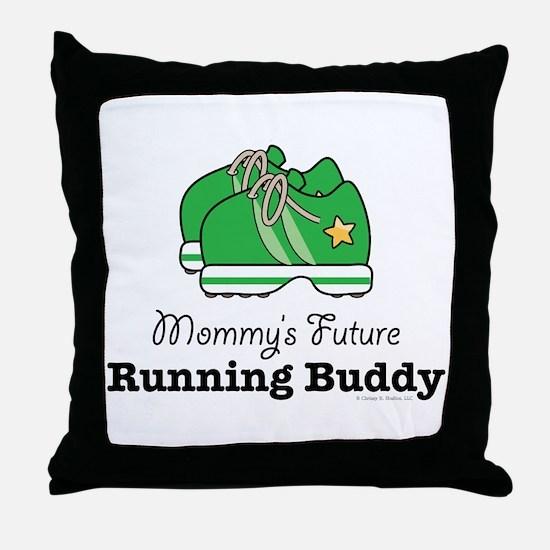 Mommy's Future Running Buddy Throw Pillow