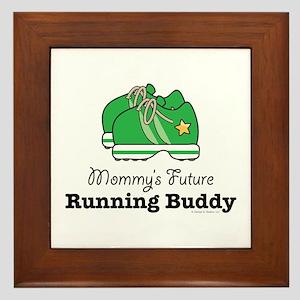 Mommy's Future Running Buddy Framed Tile