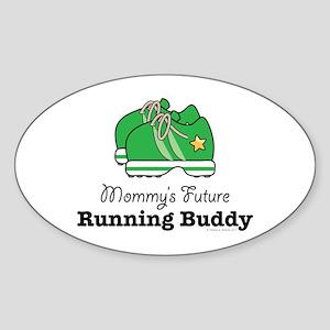 Mommy's Future Running Buddy Oval Sticker