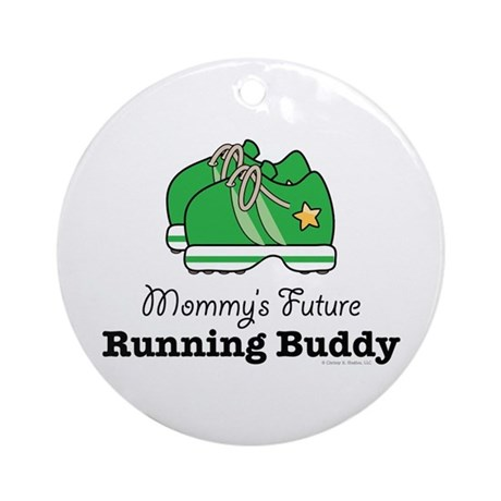 Mommy's Future Running Buddy Ornament (Round)