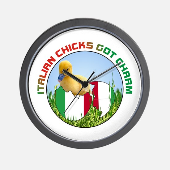 Italian Chicks Wall Clock