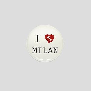 I Love Milan Mini Button