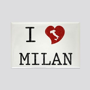 I Love Milan Rectangle Magnet