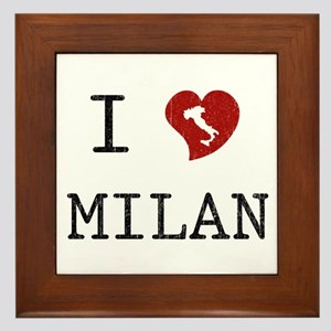 I Love Milan Framed Tile