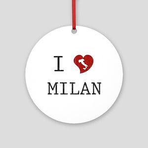 I Love Milan Ornament (Round)