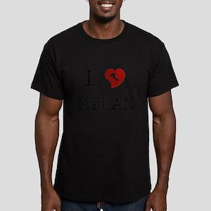 I Love Milan Men's Fitted T-Shirt (dark)