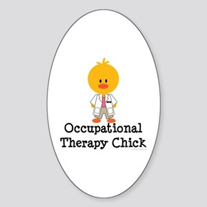 Occupational Therapy Chick Oval Sticker