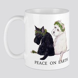 Scottish Terrier Westie Christmas Mug