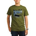 313 Detroit Made Organic Men's T-Shirt (dark)