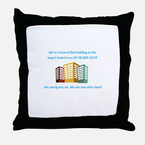 Unique Comedian Throw Pillow