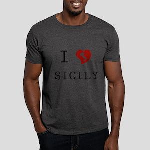 I Love Sicily Dark T-Shirt