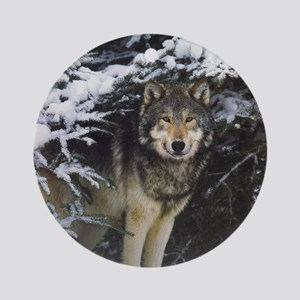 """Wolf In Brush"" Ornament (Round)"